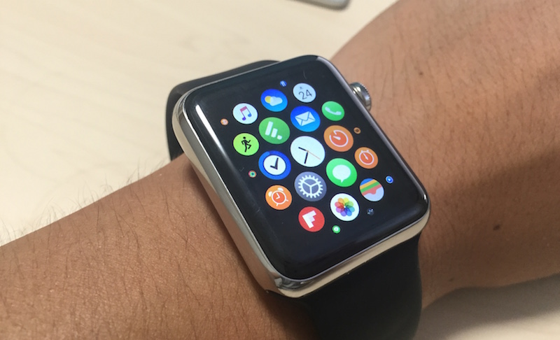 Apple Watchのアイコンが大きくなってきた