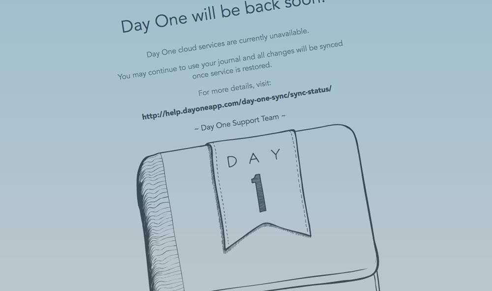 日記アプリDay Oneのシンクエラーが続いている件
